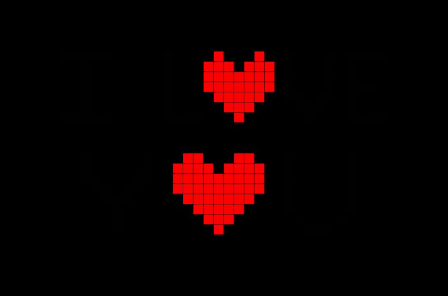 I Love You Pixel Art Dessin Petit Carreau Pixel Art Coeur Coloriage Pixel