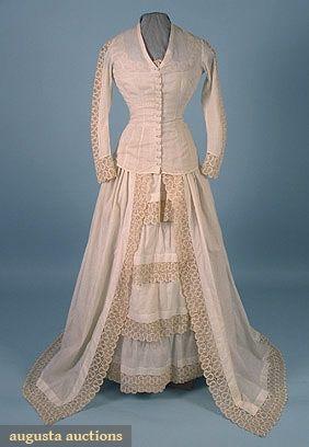 WEDDING GOWN, 1878-1880