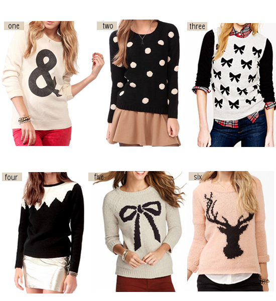 cute sweaters | ... friends over the weekend i came across so many ...