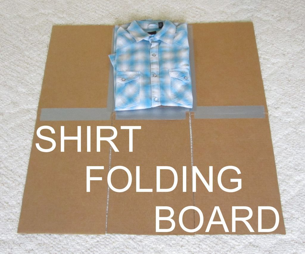 Shirt Folding Board From Cardboard And Duct Tape T Shirt Folding