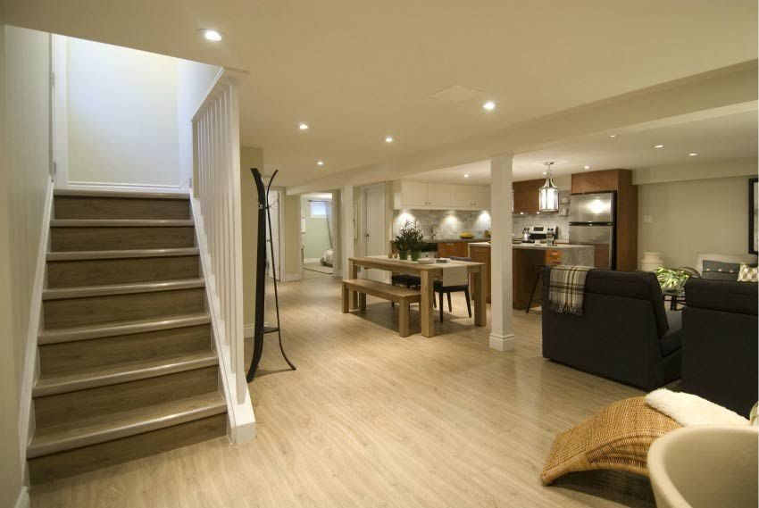 The 6 elements you need for the perfect finished basement for Basement apartment layout ideas