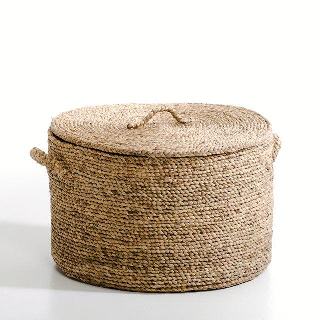 Compre Cesto redondo em jacinto-de-água, alt. 36,5 cm, Liane ...