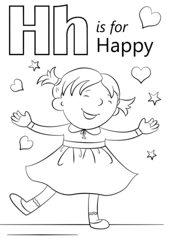 Letter H Is For Happy Coloring Page From Letter H Category Select From 26690 Printable Crafts O Preschool Coloring Pages Alphabet Preschool Abc Coloring Pages