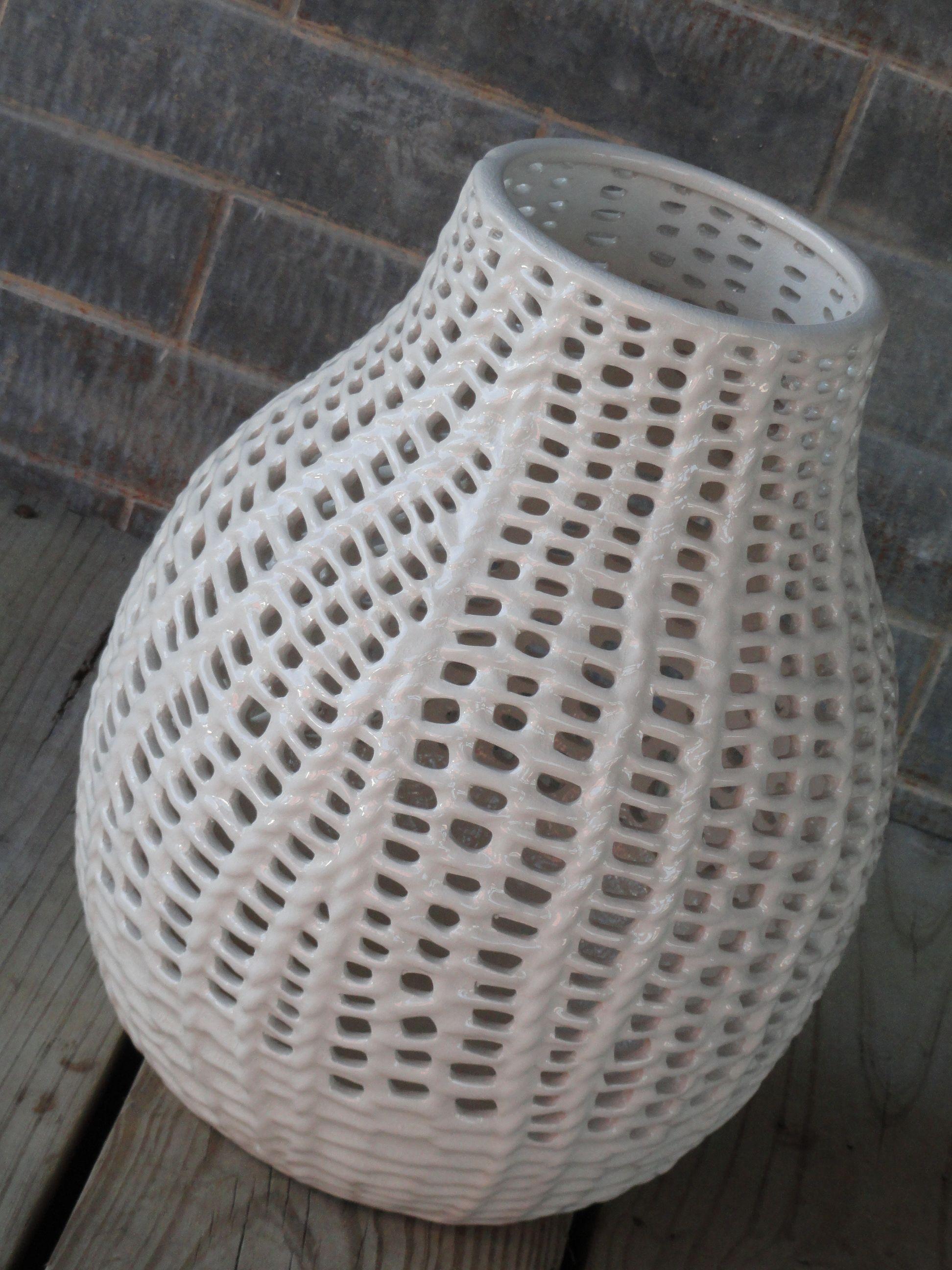 Woven Ceramic Vase Texture Is Beautiful Clay Vase Ceramic