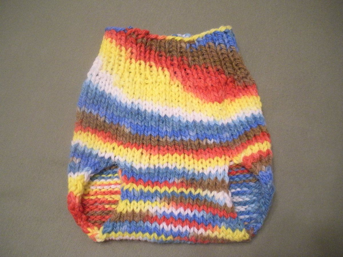 The first project I completely finished when I was learning to knit ...