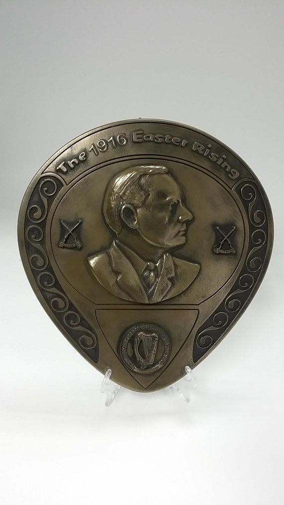 Patrick padraig pearse 1916 commemoration plaque gift bronze finish patrick padraig pearse 1916 commemoration plaque gift bronze finish sculpture wall decor home easter rising 100 negle Images