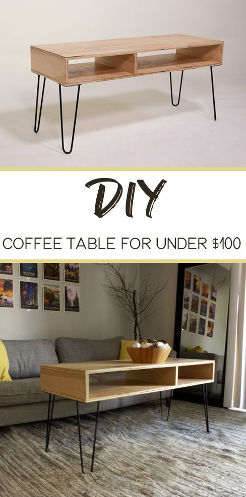 Coffee Table Old And Outdated Try Making This Easy Mid Century