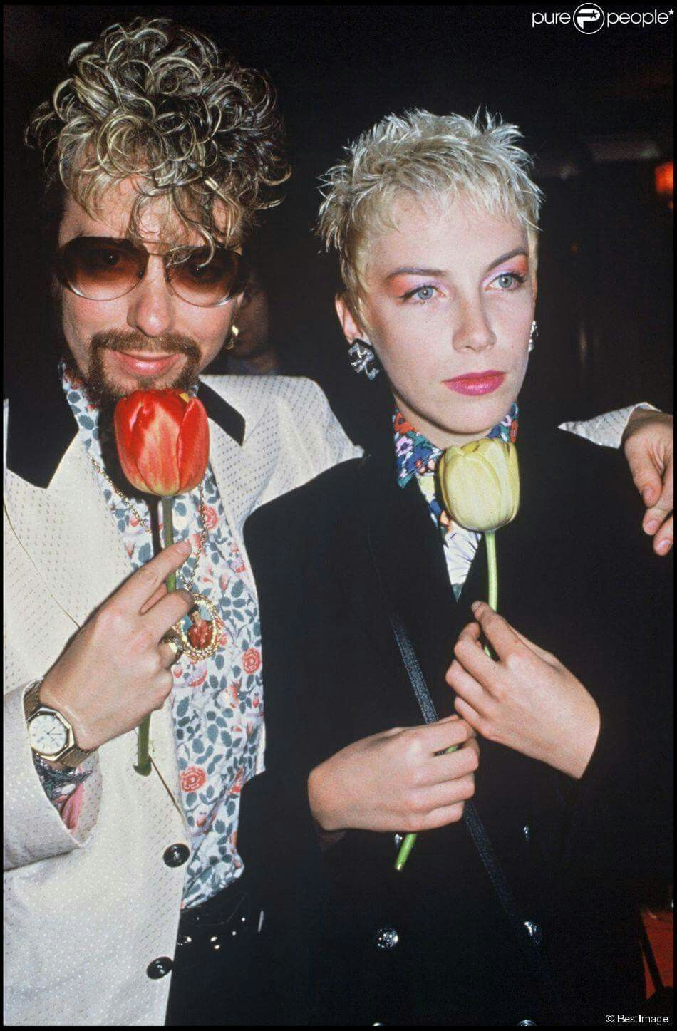 Dave Stewart And Annie Lennox Cb With Images Annie Lennox Annie Lennox