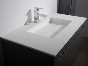 Solid Surface Wastafel : Solid surface wastafel badkamer solid surface and