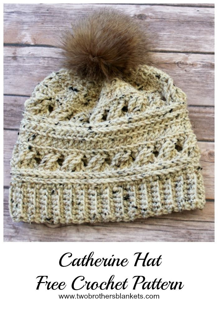 Catherine Hat Free Crochet Pattern - Two Brothers Blankets #crochethatpatterns