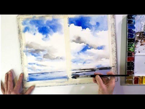 Ganz Einfach Malen Lernen 1 Wolken Im Aquarell Youtube Wolken