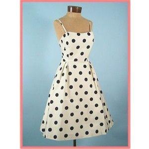 polka dot 60 s style dress style pinterest dots