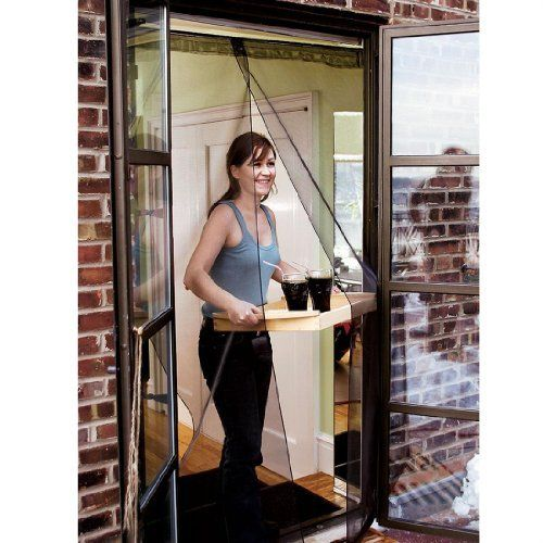 Attractive Patented Bug Off® Screen Doors Install Instantly Without Tools. Fiberglass  Mesh Panels Hang From A Spring Tension Rod That Fits At The Top Of The ...