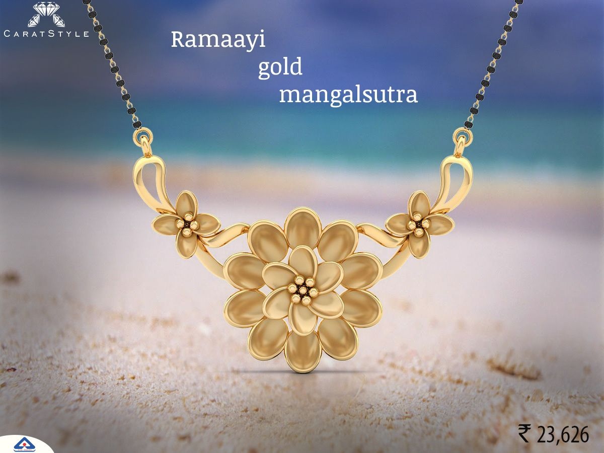 Your sparkle of gold mangalsutra never gone unnoticed shop now