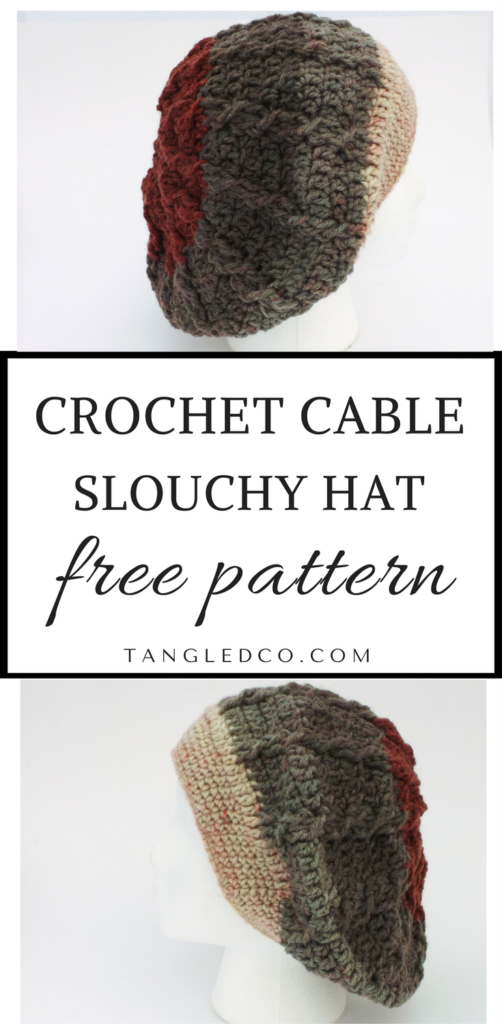 Cable Slouchy Hat | Crochet Hats | Pinterest