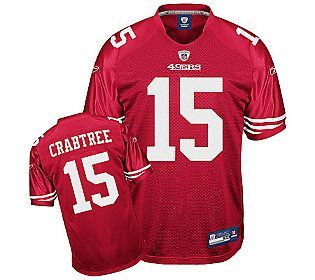 NFL 49ers Michael Crabtree Authentic Team ColorJersey - QVC.com ...