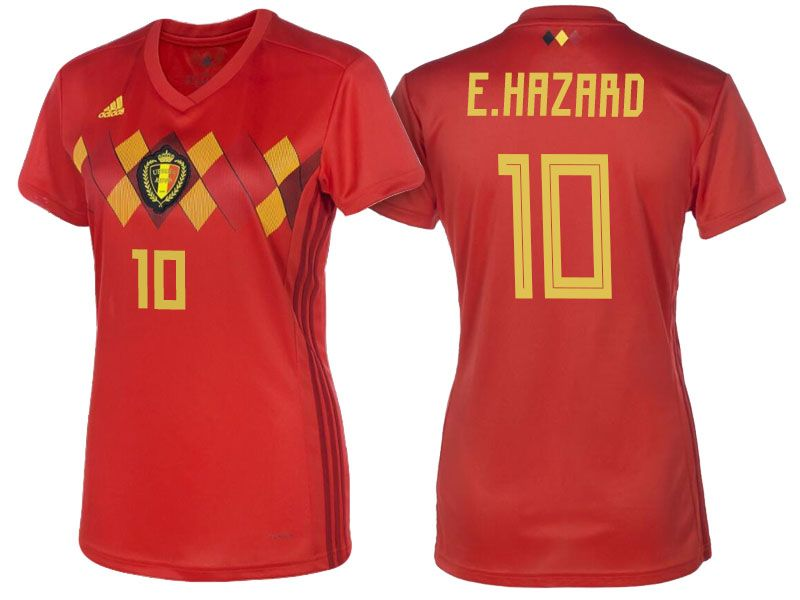 new arrival c9197 f62ee 2018 Belgium World Cup Football Shirt Home eden hazard ...