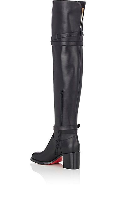 christian louboutin over the knee flat boots