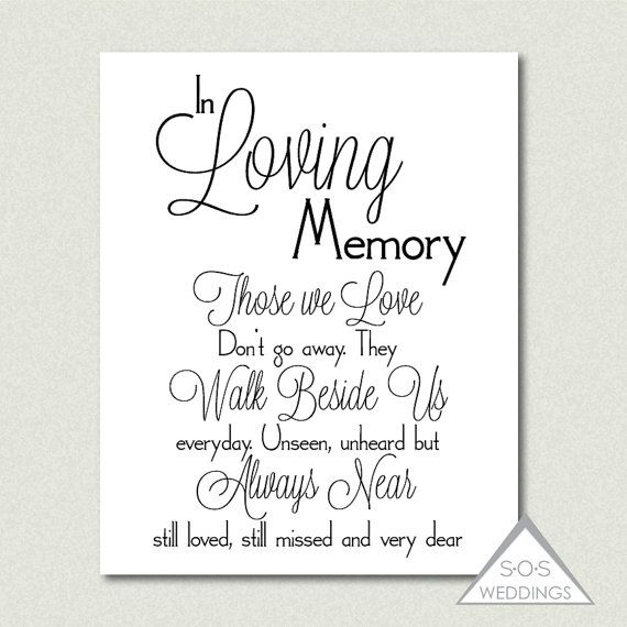 photograph about In Loving Memory Free Printable called Within just Loving Memory, Wedding ceremony Signal, Printable PDF, JPEG, Prompt