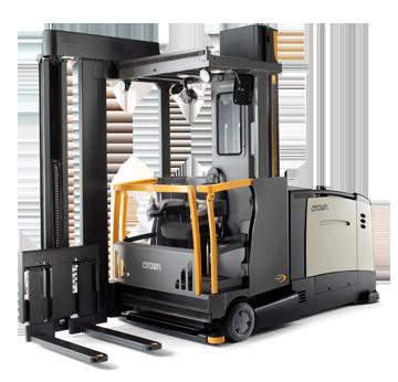 Crown Tsp Series Turret Truck Lifted Trucks Crown Equipment Forklift