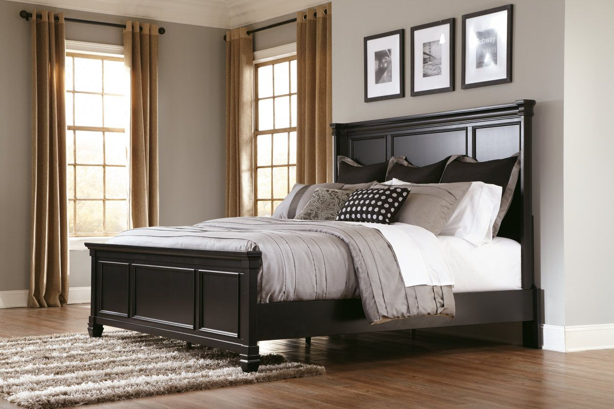 prentice queen panel bed ashley