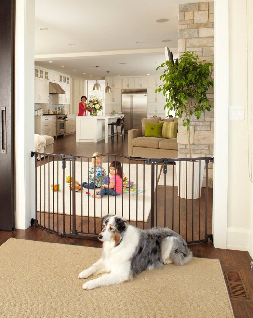 Extra Wide Baby Safety Gate Child Toddler Fence Walk Thru Pet Cat Dog Door