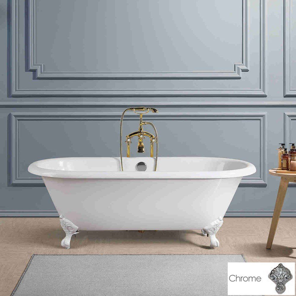 Kensington Cast Iron Double Ended Clawfoot Tub No Faucet