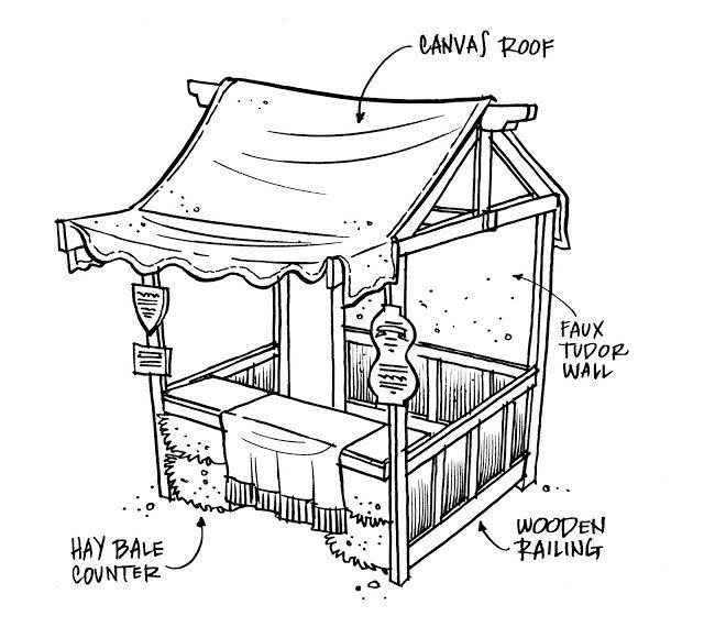Christmas Market Craft Hut Plans
