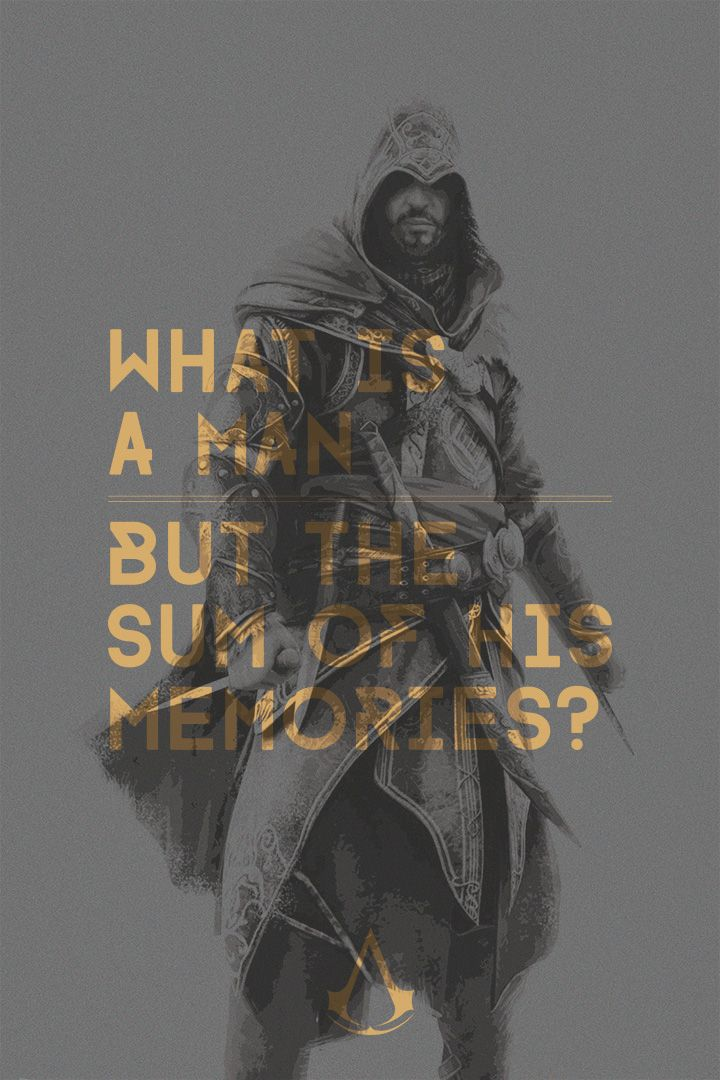 Assassin's Creed Quote Poster Ezio (ACR) by acTurul on
