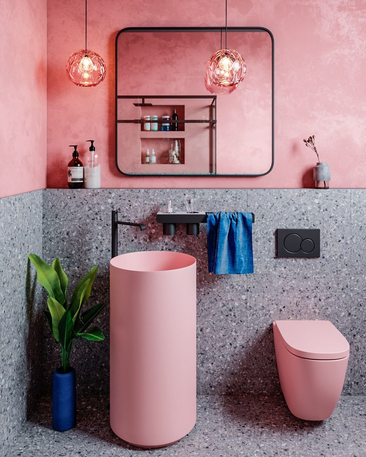 51 Pink Bathrooms With Tips Photos And Accessories To Help You Decorate Yours Pink Bathroom Pink Bathroom Decor Pink Toilet