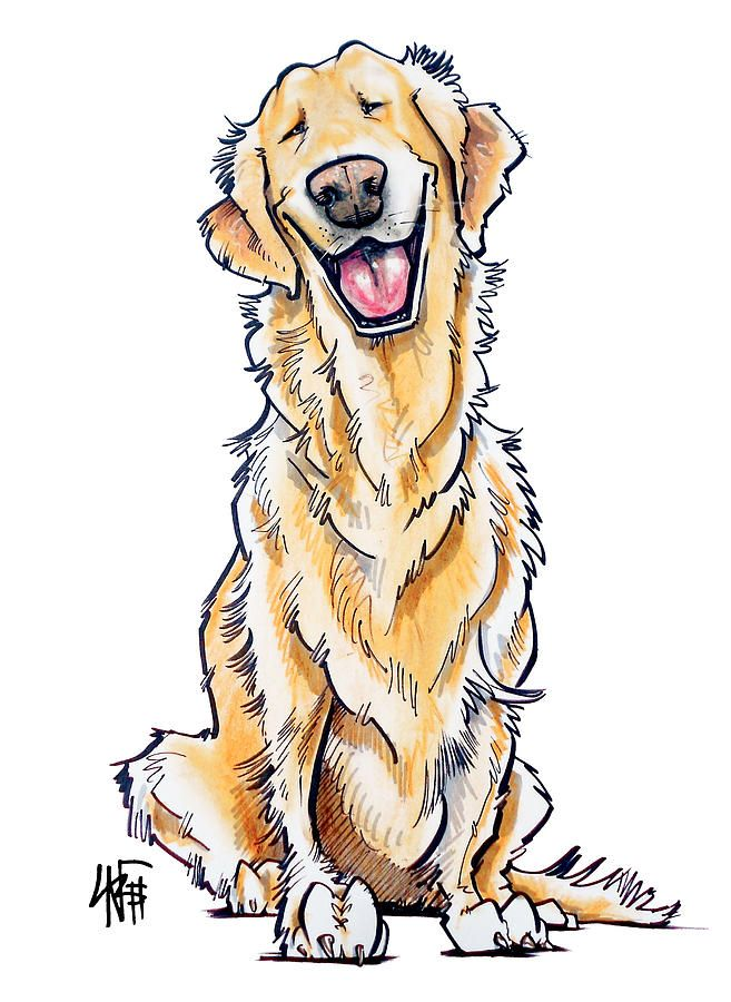 What An Awesome Artist Dog Drawing Dog Paintings Golden
