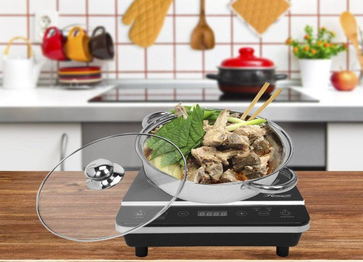 Rosewill RHAI-13001 1800W Induction Cooktop & Stainless Steel Pot