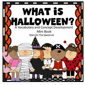 Designed to help students increase vocabulary related to the holiday. It is a visual unit that labels and describes Halloween symbols and helps students understand expectations.This mini-book unit was designed to help students with limited language but could also be used with beginning readers and spellers.