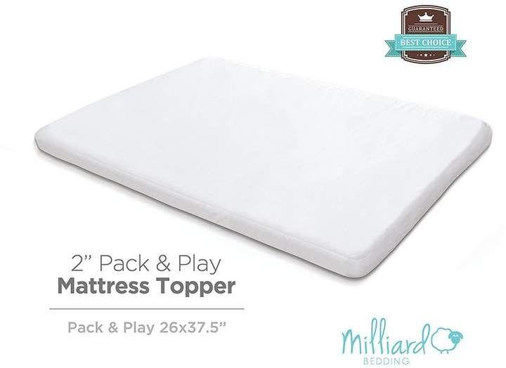 Babydoll Bedding Memory Foam Crib Mattress Topper For Toddlers