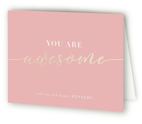More Than Sweet Foil-Pressed Sweet Sixteen Party Thank You Cards