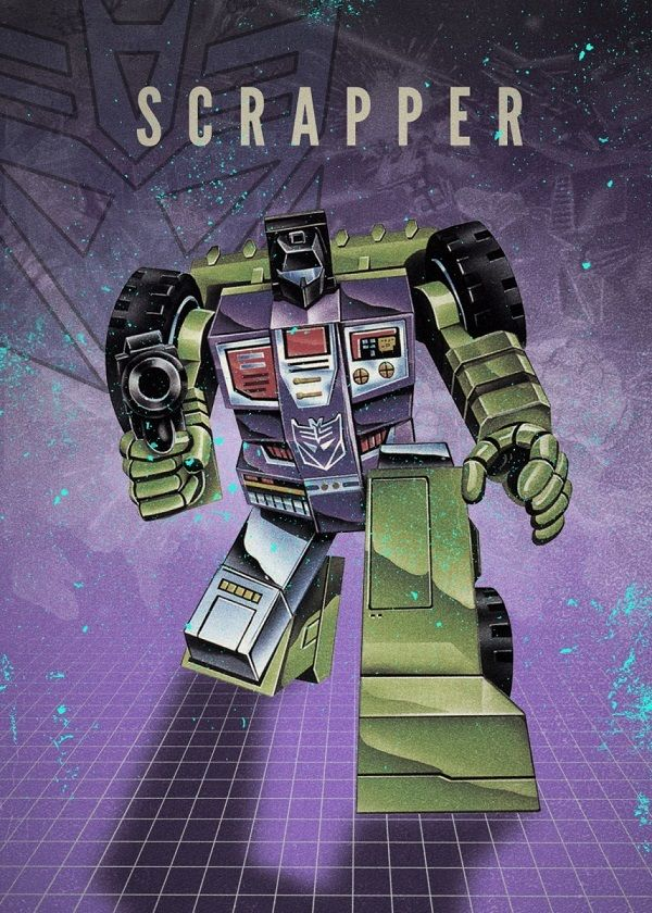 "Transformers Decepticons Scrapper #Displate explore Pinterest""> #Displate artwork by artist ""Rykker o7"". Part of…   Displate thumbnail"