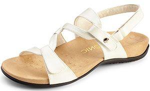 bc4d153f18f1 White Vionic Paros Backstrap Sandals - Free Shipping