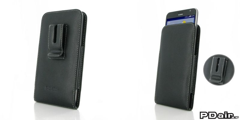 Pdair huawei ascend gx1 pouch case with belt clip