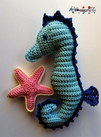 Seahorse - free crochet pattern in English and German at ...