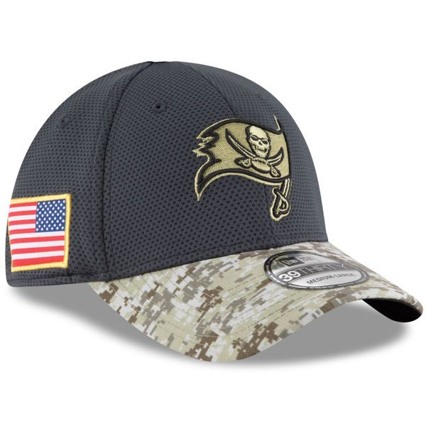 Tampa Bay Buccaneers New Era Toddler Salute To Service Sideline 39THIRTY  Flex Hat - Graphite d5ccf72bc83