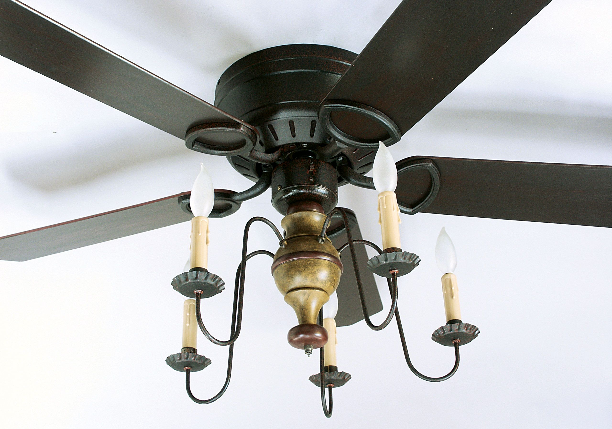 Mammoth Hugger Ceiling Fan from Garber s Crafted Lighting