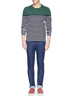 PAUL SMITH JEANS Colourblock stripe cotton T-shirt