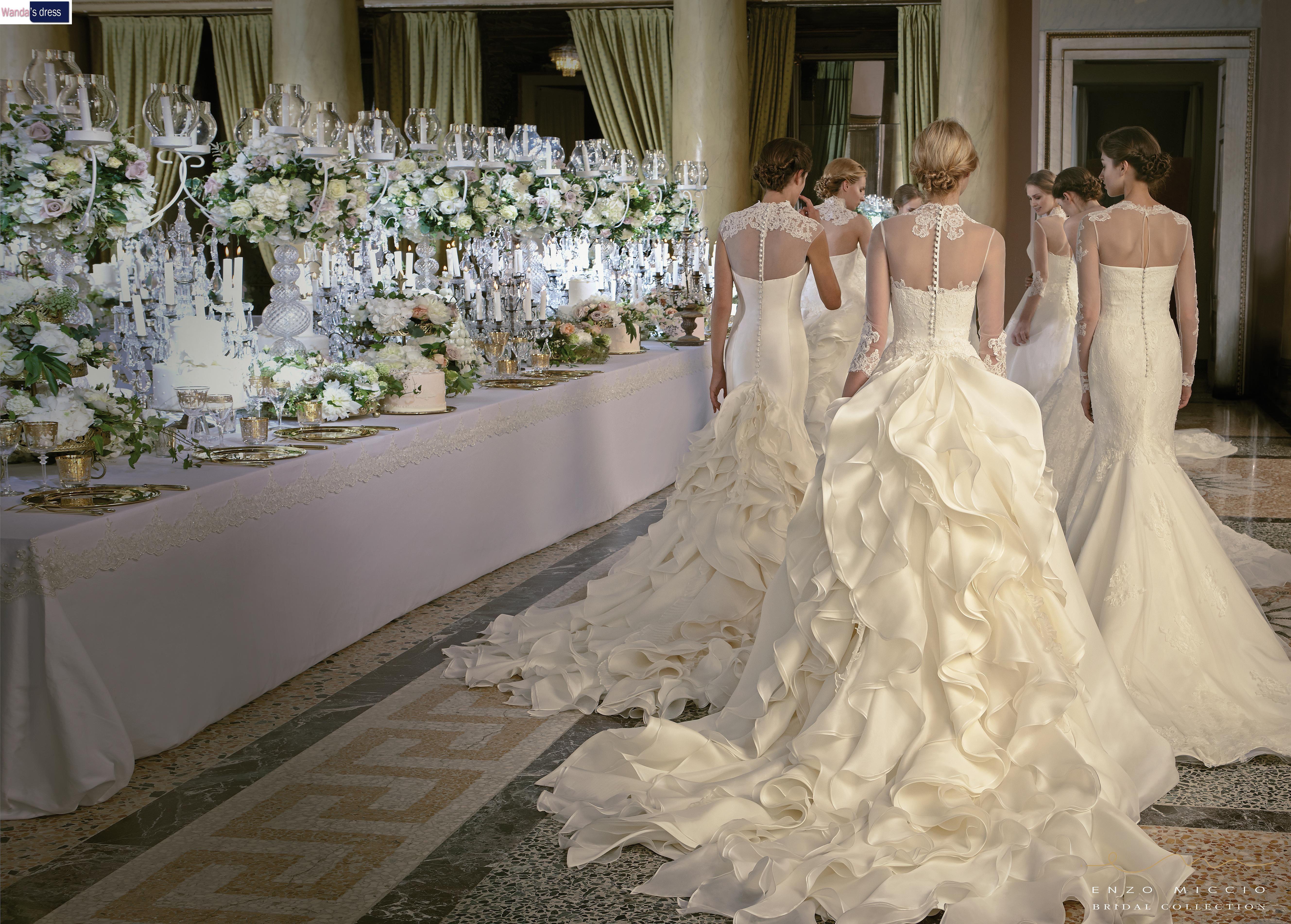 Abiti Da Sposa Wandas Dress.Gli Abiti Da Sposa Della Enzo Miccio Bridal Collection Sono In