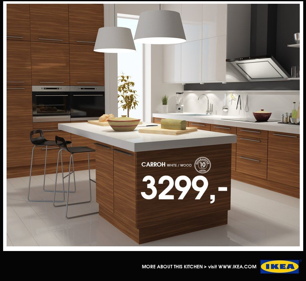 Stunning white ikea kitchen design with white colored countertop and