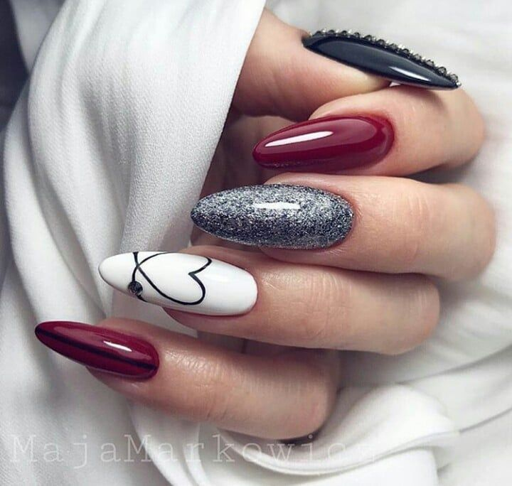 Love Modern Nails Manicure Heart Fashion Https Weheartit Com Entry 326300952 Nail Designs Valentines Perfect Nails Heart Nails