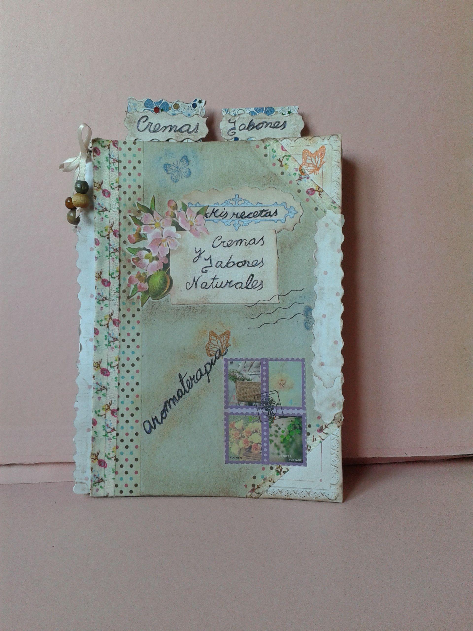 Cuaderno de recetas de cremas y jabones naturales de https://www.facebook.com/pages/La-Casita-Trepekaniansa/204914972887655?ref=hl