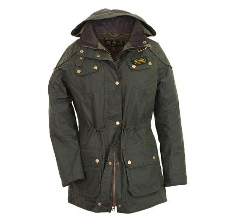 Womens barbour hawkstone waxed parka jacket