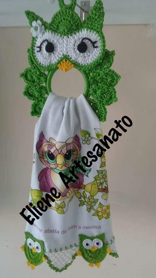 Pin de Gloria en Knitted owl | Pinterest | Paños, La abuela y Toallas