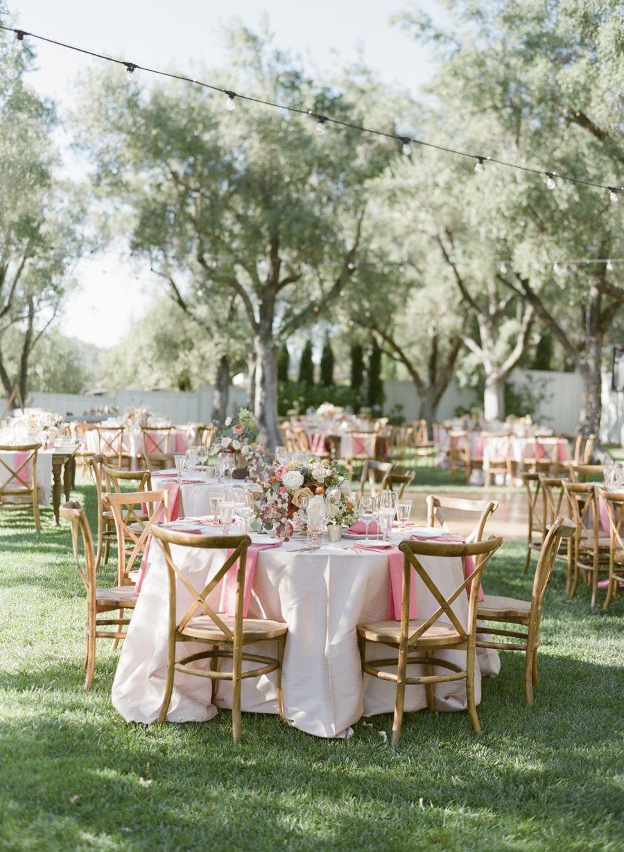 Al fresco winery wedding reception venue Event