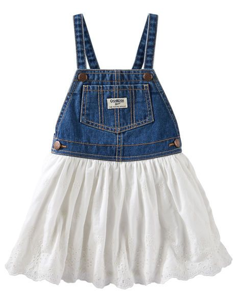 74f666d052 Toddler Girl Eyelet Lace Denim Jumper from OshKosh B gosh. Shop clothing    accessories from a trusted name in kids